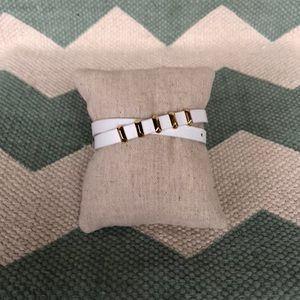 Stella & Dot leather wrap bracelet